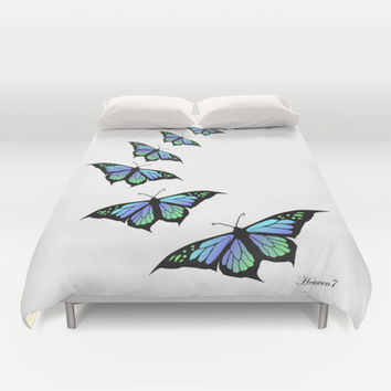 Fly with me Duvet Cover by Heaven7