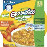 Gerber Graduates Breakfast Buddies - Peach Cereal, 4.5-Ounce (Pack of 8)
