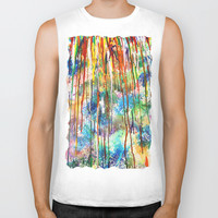 Drip drip drop little April shower Biker Tank by Sarah Maybin