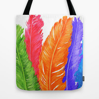 Light as a feather Tote Bag by Sarah Maybin