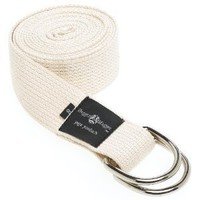 Hugger Mugger D-Ring Yoga Strap 8-Foot (Natural)