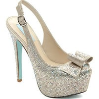 Blue by Betsey Johnson Toast Slingback Pumps | Dillard's Mobile