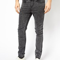 New Look Super Skinny Fit Jeans with Acid Wash Studs