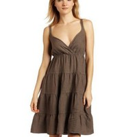 allen allen Women's Linen Tiered Dress