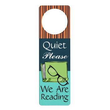 Quiet Please - Reading - Door Hanger - SRF