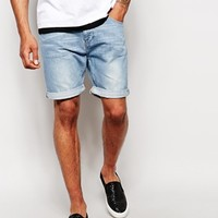 ASOS Denim Shorts In Slim Mid Length
