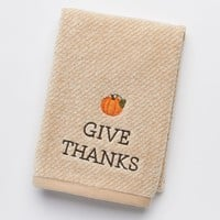 Harvest ''Give Thanks'' Hand Towel