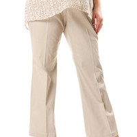 Motherhood Maternity: Plus Size Secret Fit Belly(tm) Twill Maternity Pants