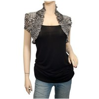 Plus size Faux Shrug Top Black