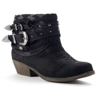 sugar Black Timbers Women's Ankle Boots