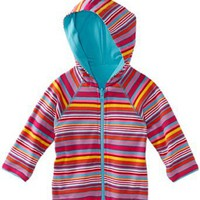 Zutano Baby-girls Infant Multi Stripe Reversible Zip Hoodie