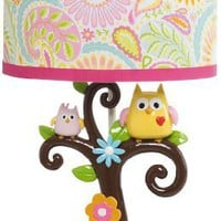Kids Line Dena Happi Tree Lamp Base and Shade, Pink