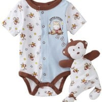 Vitamins Baby-boys Newborn Monkey Cowboy 2 Piece Creeper Set With Blanket Buddy