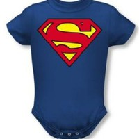 DC Comics Superman Creeper Romper Onesuit Size: 0-6 Months