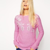 ASOS Jumper With Lace Detail