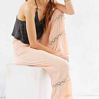 Band Of Gypsies Crochet-Inset Gauze Pant-