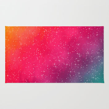 Colorful Galaxy Area & Throw Rug by Texnotropio