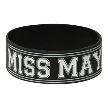Miss May I Troy Ohio Rubber Bracelet