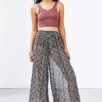 Band Of Gypsies Sheer Chiffon Wide-Leg Pant - Urban Outfitters