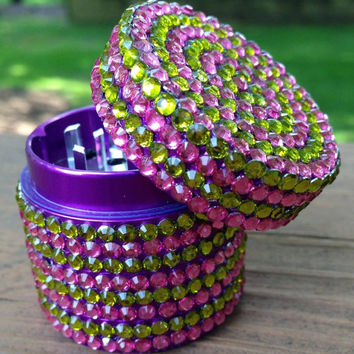 GRINDER -- MINIS Collection -- Pink + Green Stripes