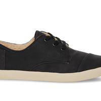 BLACK SYNTHETIC LEATHER WOMEN'S PASEOS