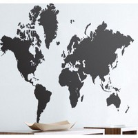 ferm LIVING World Map Wall Sticker in Black - 2019-01 - All Wall Art - Wall Art & Coverings - Decor