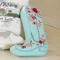 Junk Gypsy Prairie Cowgirl Boot Pillow