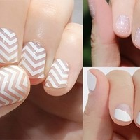 Transparent Nail Wraps Are Back