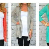 Lightweight Long Cardigans - New Fall Colors - 9 Colors