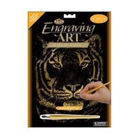 "Royal Brush Gold Foil Engraving Art Kit 8""X10"" Bengal Tiger GOLFOIL-23; 3 Items/Order"