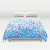 sparkly blue Duvet Cover by Marianna Tankelevich | Society6