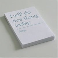 I Will Do One Thing Today Notepads from Pretty Bitter