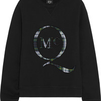 McQ Alexander McQueen | Appliquéd cotton-fleece sweatshirt | NET-A-PORTER.COM