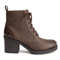 H&M - Heeled Boots - Brown - Ladies