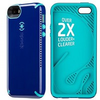 Speck Products CandyShell Amped Sound Amplification Case for iPhone 5/5S, SPK-A2920 - Retail Packaging - Cadet Blue/Caribbean Blue