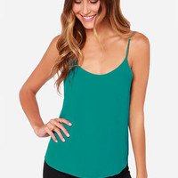 Lucy Love Go To Teal Tank Top