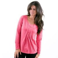 Jockey Women Peached Jersey Long Sleeve PJ Top