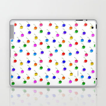 3D Glass Rainbow Cherries Pattern Laptop & iPad Skin by THE-LEMON-WATCH | Society6