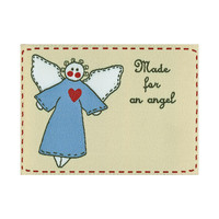 Labels, Made for an Angel, 1/pkg Woven Label, Premade sewing, quilting, sewing labels