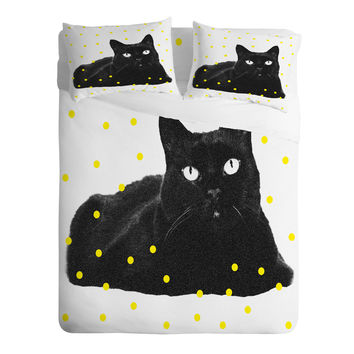Elisabeth Fredriksson A Black Cat Sheet Set