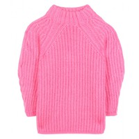 Wool, silk and cashmere-blend sweater