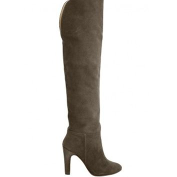 Candela Austin Boot - Grey Leather Boot - ShopBAZAAR