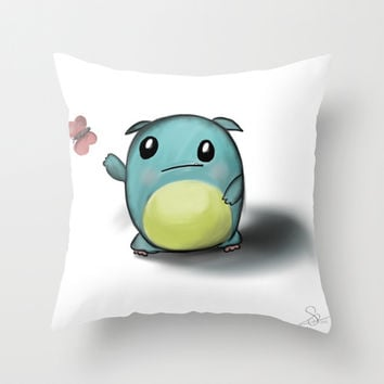 cuteness monster Throw Pillow by Dubai icreative
