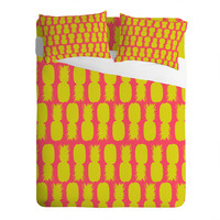 Allyson Johnson Neon Pineapples Sheet Set