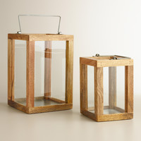 Recycled Wood Lantern Candleholder - World Market