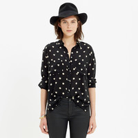 Silk Spotlight Shirt in Hearts and Dots