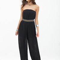 Strapless Beaded Jumpsuit