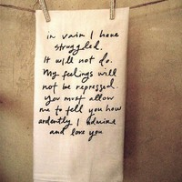 Mr Darcy Proposal Dish Towel by Brookish on Etsy