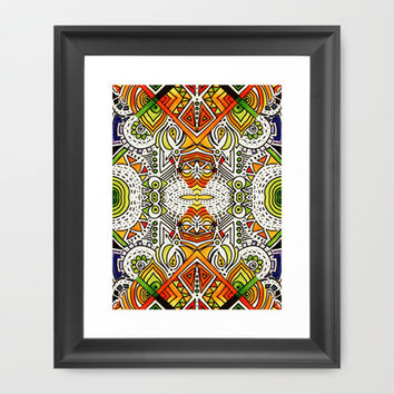 Seeing Tribe Framed Art Print by DuckyB (Brandi)