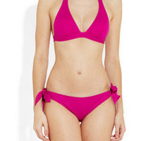 Violet Lake|Ryder halterneck bikini top|NET-A-PORTER.COM